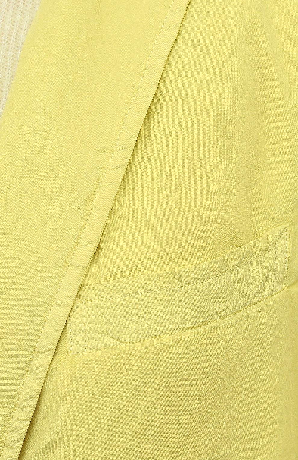 Женский хлопковый жакет DRIES VAN NOTEN желтого цвета, арт. 211-10414-2279 | Фото 5