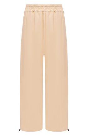 Женские кожаные брюки BOTTEGA VENETA бежевого цвета, арт. 652882/VKVL0 | Фото 1