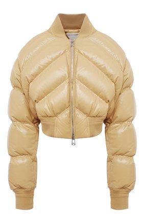 Женская кожаная куртка BOTTEGA VENETA бежевого цвета, арт. 652861/VKLC0 | Фото 1