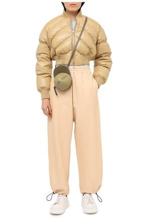 Женская кожаная куртка BOTTEGA VENETA бежевого цвета, арт. 652861/VKLC0 | Фото 2