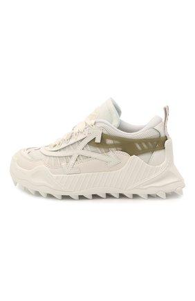 Женские текстильные кроссовки odsy-1000 OFF-WHITE белого цвета, арт. 0WIA180R21FAB0010105 | Фото 3 (Материал внешний: Текстиль; Подошва: Платформа; Материал внутренний: Текстиль)