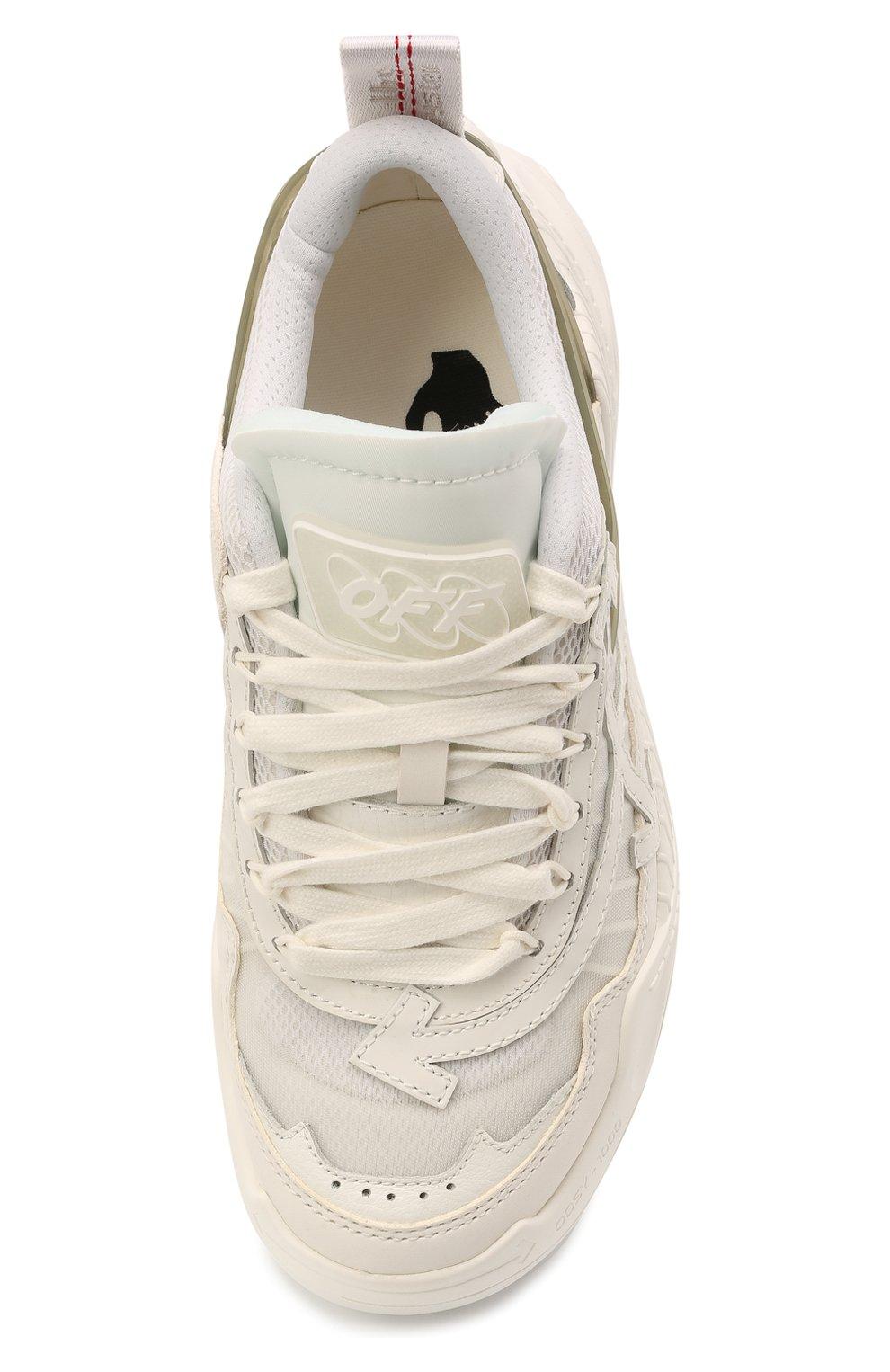 Женские текстильные кроссовки odsy-1000 OFF-WHITE белого цвета, арт. 0WIA180R21FAB0010105 | Фото 5 (Материал внешний: Текстиль; Подошва: Платформа; Материал внутренний: Текстиль)