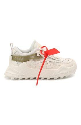 Женские текстильные кроссовки odsy-1000 OFF-WHITE белого цвета, арт. 0WIA180R21FAB0010105 | Фото 6 (Материал внешний: Текстиль; Подошва: Платформа; Материал внутренний: Текстиль)