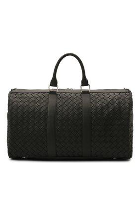 Мужская кожаная дорожная сумка BOTTEGA VENETA черного цвета, арт. 650066/V0E51 | Фото 1