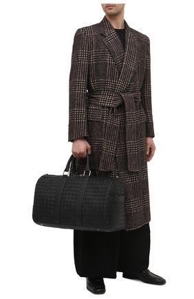 Мужская кожаная дорожная сумка BOTTEGA VENETA черного цвета, арт. 650066/V0E51 | Фото 2