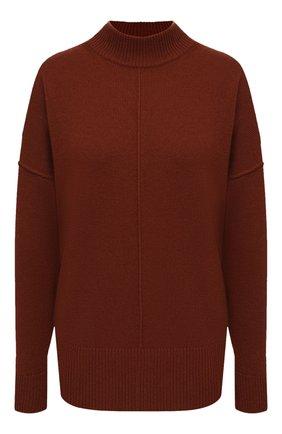 Женский кашемировый свитер BOSS коричневого цвета, арт. 50444485 | Фото 1