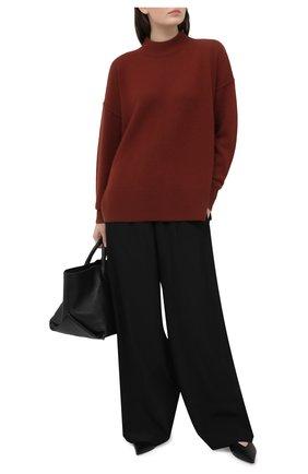 Женский кашемировый свитер BOSS коричневого цвета, арт. 50444485 | Фото 2