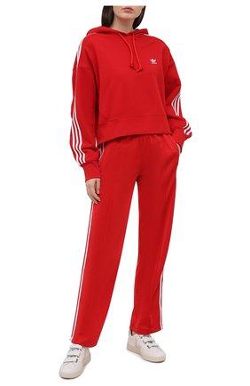 Женский хлопковое худи ADIDAS ORIGINALS красного цвета, арт. GN2892 | Фото 2