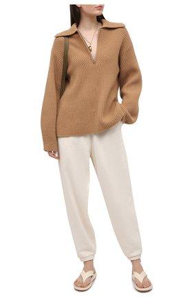 Женские хлопковые джоггеры ADIDAS ORIGINALS бежевого цвета, арт. GN2847 | Фото 2
