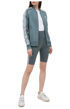 Женские шорты ADIDAS ORIGINALS зеленого цвета, арт. GN2923 | Фото 2