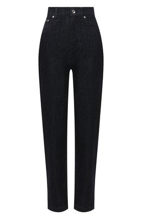 Женские джинсы DOLCE & GABBANA темно-синего цвета, арт. FTBXGD/G8DA5   Фото 1 (Материал внешний: Хлопок, Деним; Длина (брюки, джинсы): Стандартные; Кросс-КТ: Деним; Стили: Кэжуэл; Силуэт Ж (брюки и джинсы): Узкие)