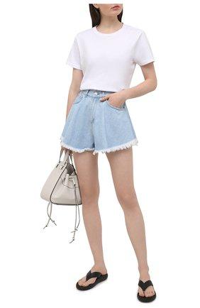 Женские джинсовые шорты FORTE DEI MARMI COUTURE синего цвета, арт. 21SF9752 | Фото 2