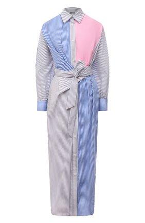 Женское хлопковое платье MSGM разноцветного цвета, арт. 3041MDA01Y 217107   Фото 1