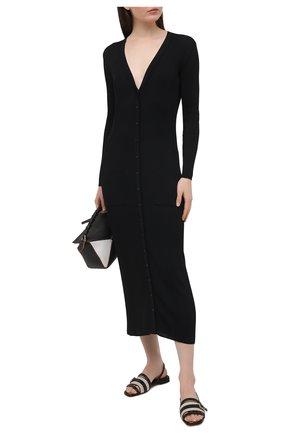 Женские кожаные сандалии SANTONI черного цвета, арт. WHYF59347HI1T0I0N01 | Фото 2