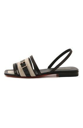 Женские кожаные сандалии SANTONI черного цвета, арт. WHYF59347HI1T0I0N01 | Фото 3