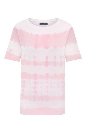 Женская хлопковая футболка JACOB COHEN розового цвета, арт. J2177 01107-TD/55 | Фото 1