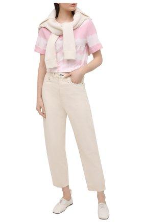 Женская хлопковая футболка JACOB COHEN розового цвета, арт. J2177 01107-TD/55 | Фото 2
