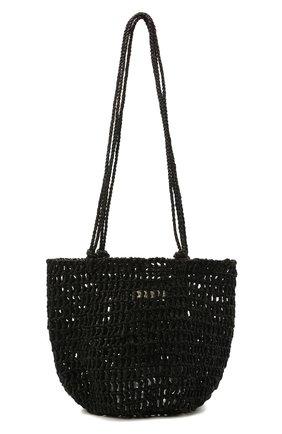 Женская сумка noosa medium SANS-ARCIDET черного цвета, арт. N00SA BAG S21/M   Фото 1