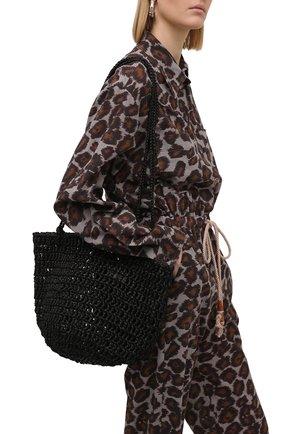 Женская сумка noosa medium SANS-ARCIDET черного цвета, арт. N00SA BAG S21/M   Фото 2