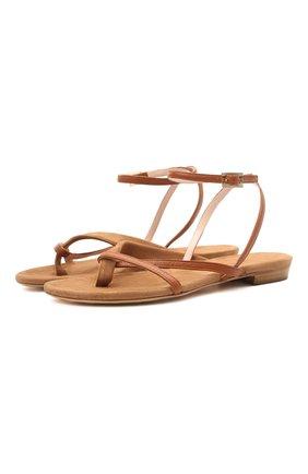 Женские замшевые сандалии KITON коричневого цвета, арт. D51809X08T66 | Фото 1 (Подошва: Плоская; Материал внутренний: Натуральная кожа; Каблук высота: Низкий; Материал внешний: Замша)