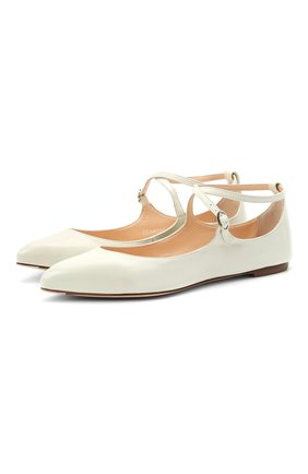 Женские кожаные балетки AGL белого цвета, арт. D538024PCGLAMM0105 | Фото 1