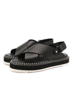 Женские кожаные сандалии AGL черного цвета, арт. D642026PIS0FTY0000 | Фото 1 (Подошва: Платформа; Материал внутренний: Натуральная кожа)