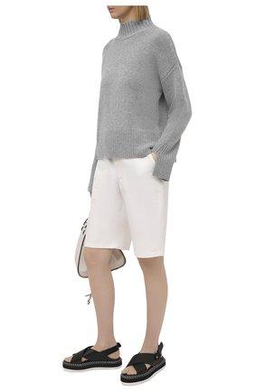 Женские кожаные сандалии AGL черного цвета, арт. D642026PIS0FTY0000   Фото 2