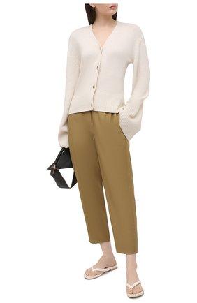 Женские кожаные шлепанцы AGL белого цвета, арт. D656034PHKS047B288   Фото 2