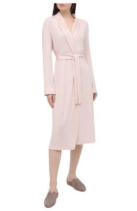 Женский халат LA PERLA светло-розового цвета, арт. 0043240 | Фото 2