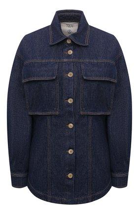 Женская джинсовая рубашка TELA синего цвета, арт. 01 T108 A6 0259 | Фото 1