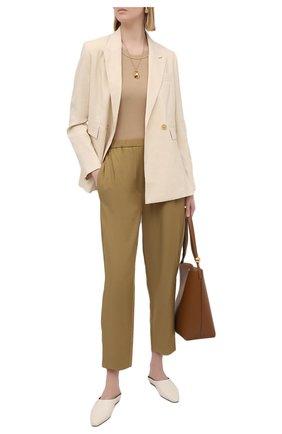 Женские брюки TELA хаки цвета, арт. 01 0153 14 0234 | Фото 2