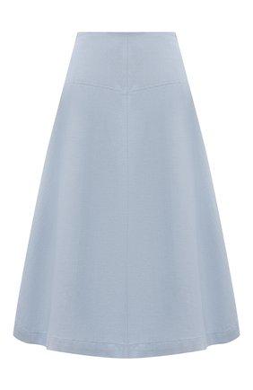 Женская юбка из хлопка и льна TELA голубого цвета, арт. 01 0170 11 5269 | Фото 1