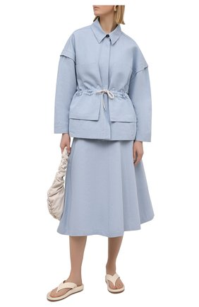 Женская юбка из хлопка и льна TELA голубого цвета, арт. 01 0170 11 5269 | Фото 2