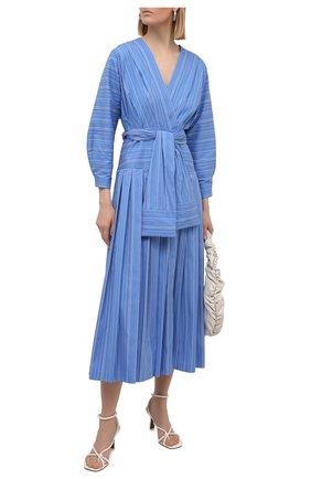 Женское хлопковое платье TELA синего цвета, арт. 01 0148 01 5993 | Фото 2