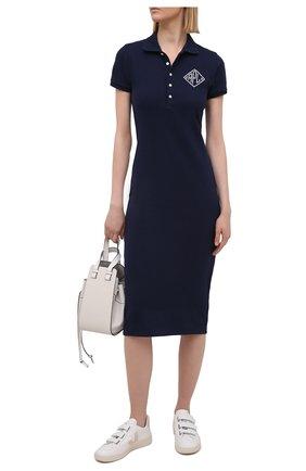 Женское хлопковое платье POLO RALPH LAUREN синего цвета, арт. 211827932 | Фото 2