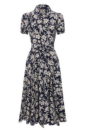 Женское платье из вискозы POLO RALPH LAUREN синего цвета, арт. 211827787 | Фото 1