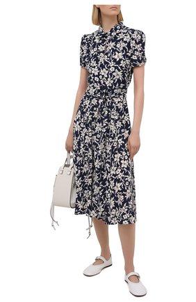 Женское платье из вискозы POLO RALPH LAUREN синего цвета, арт. 211827787 | Фото 2
