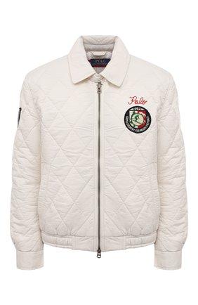 Женская хлопковая куртка POLO RALPH LAUREN кремвого цвета, арт. 211827561 | Фото 1