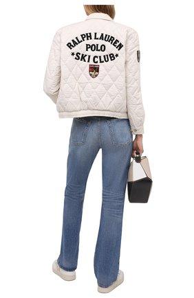Женская хлопковая куртка POLO RALPH LAUREN кремвого цвета, арт. 211827561 | Фото 2