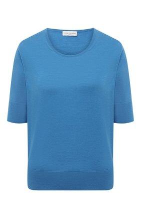 Женский шерстяной пуловер DRIES VAN NOTEN голубого цвета, арт. 211-11260-2701 | Фото 1