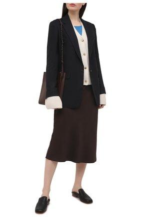 Женский шерстяной пуловер DRIES VAN NOTEN голубого цвета, арт. 211-11260-2701 | Фото 2