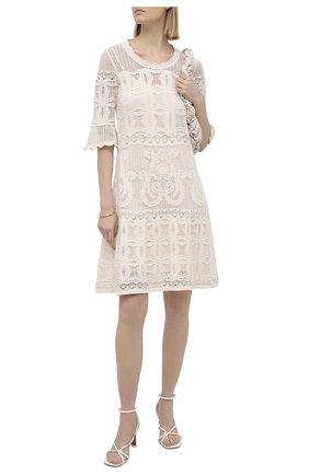 Женское хлопковое платье D.EXTERIOR светло-бежевого цвета, арт. 52338   Фото 2