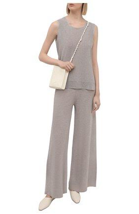 Женские брюки из вискозы D.EXTERIOR бежевого цвета, арт. 52258   Фото 2