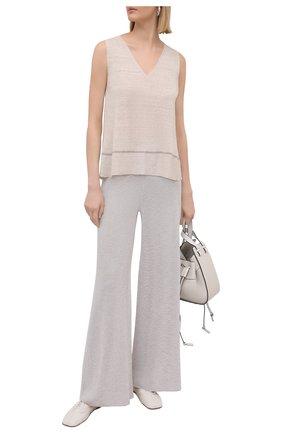 Женские брюки из вискозы D.EXTERIOR светло-бежевого цвета, арт. 52258   Фото 2