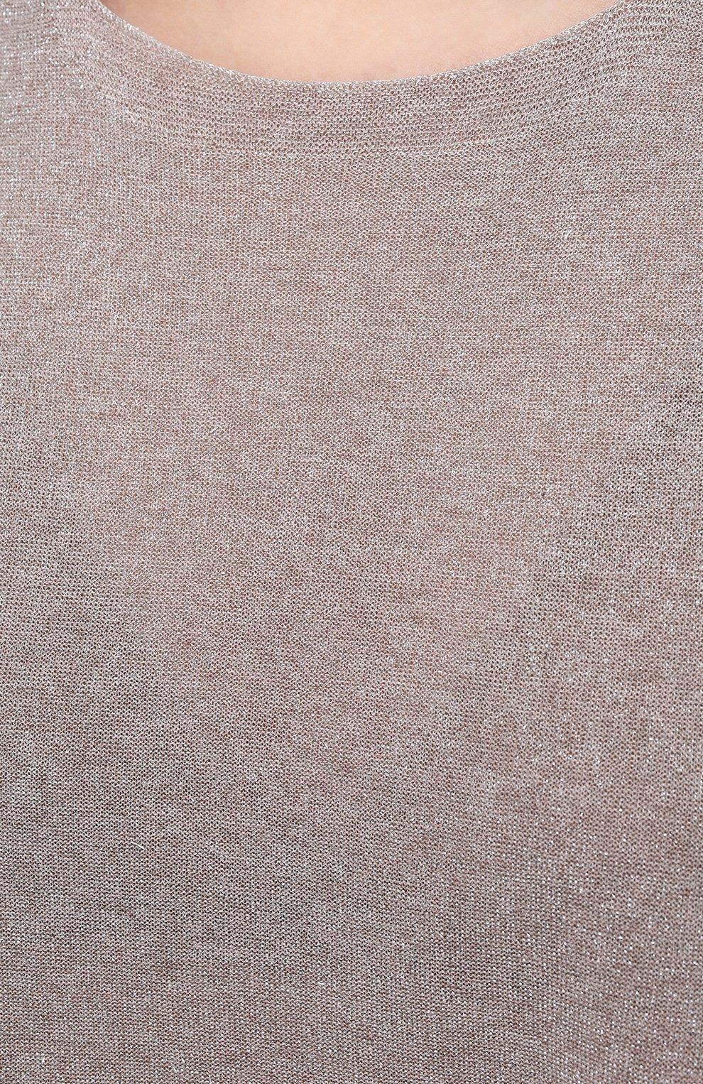 Женский топ из вискозы D.EXTERIOR бежевого цвета, арт. 52368 | Фото 5 (Кросс-КТ: без рукавов; Материал внешний: Синтетический материал, Вискоза; Длина (для топов): Стандартные; Рукава: Без рукавов; Стили: Кэжуэл)