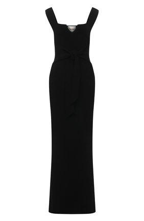 Женское платье NANUSHKA черного цвета, арт. MEL0N_BLACK_C0MPACT VISC0SE KNIT | Фото 1