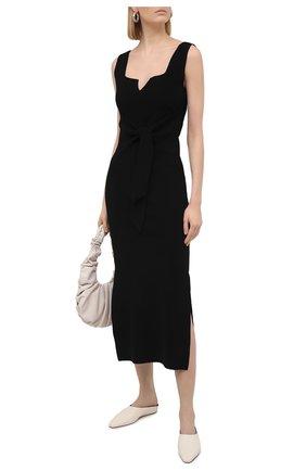 Женское платье NANUSHKA черного цвета, арт. MEL0N_BLACK_C0MPACT VISC0SE KNIT | Фото 2