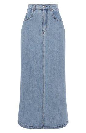 Женская джинсовая юбка NANUSHKA голубого цвета, арт. CLAUDIA_LIGHT WASH_RIGID DENIM | Фото 1