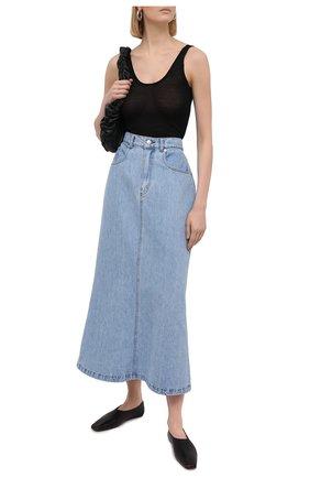 Женская джинсовая юбка NANUSHKA голубого цвета, арт. CLAUDIA_LIGHT WASH_RIGID DENIM | Фото 2