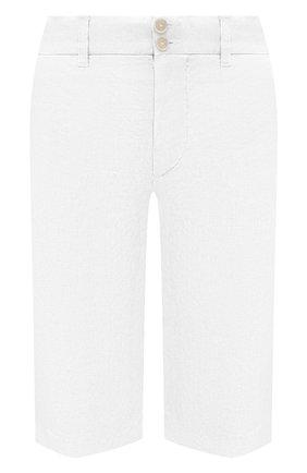 Женские льняные шорты 120% LINO белого цвета, арт. T0W2153/0253/000 | Фото 1